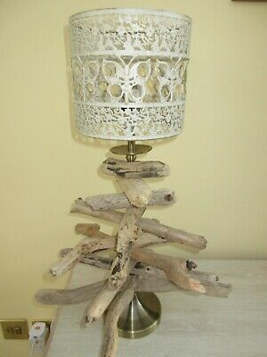 £49 • Buy Driftwood Tree Shape Table Lamp With Metal Butterfly Shade