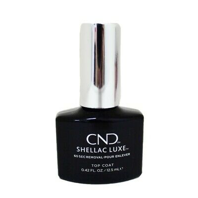 £4.99 • Buy CND Shellac Luxe Gel Top Coat - 60 Seconds Quick Removal 12.5ml Glossy Nails
