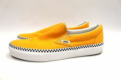 £5.50 • Buy Unisex VANS Yellow Classic Slip On Trainers Checkerboard Outsole UK 6 EU 39 N19
