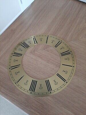 £5 • Buy 13 Cm  Chapter Ring Clock Zone Dial Face - Gold/Brass Roman Numeral