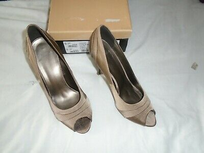 £8 • Buy Carvella   Dagger Taupe  Fabric Evening  Shoes  Size 7