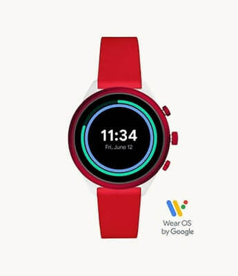 AU169 • Buy Fossil Sport Smartwatch Red Silicone (FTW6052)