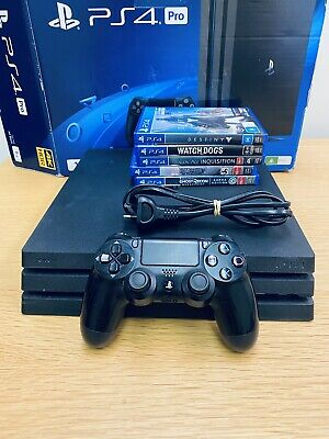 AU450 • Buy Sony PlayStation 4 PS4 Pro 1tb Console Plus 5 Games Excellent