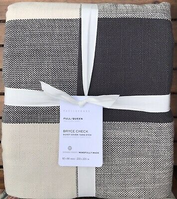 £34.79 • Buy Pottery Barn Bryce Buffalo Check DUVET,  Size Full.Queen, New  W/ $159.00 Tag
