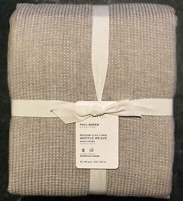 £34.79 • Buy Pottery Barn Belgian Flax Linen Waffle Weave, Size Full.Queen, New W/$249.00 Tag