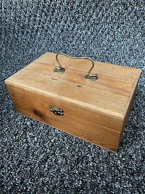 £9.99 • Buy Old Wooden Box Pine With Lid And Handle