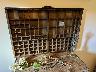 AU119.54 • Buy French Original Vintage Large Wooden Printers Tray