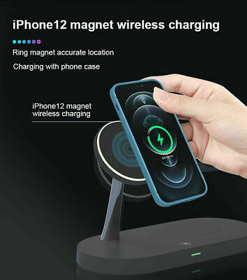 AU42.89 • Buy For AirPods Apple Watch IPhone 12 5In1 15W Qi Wireless Charger Dock Stand