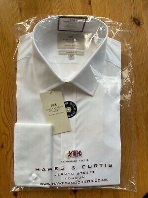 £4.40 • Buy BRAND NEW Hawes & Curtis Men's Formal Shirt Size 15.5 Slim Fit Double Cuff