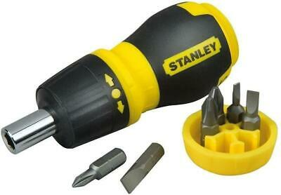 £8.49 • Buy STANLEY 066358 Multi-Bit Stubby Screwdriver - Next Day Delivery