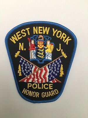 £3.62 • Buy West New York Police HONOR GUARD, New Jersey Old Shoulder Patch
