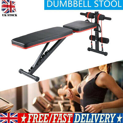 £38.99 • Buy Folding Flat Weight Lifting Bench Body Workout Exercise Home Gym Fitness Benches