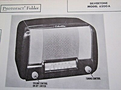 $ CDN8.98 • Buy Silvertone 6200a, Chassis 101.800-1 Radio Receiver Photofact
