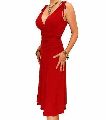 New Elegant Grecian Style Evening Dress - Knee Length • 44.99£