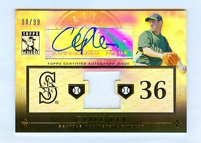 $39.99 • Buy Cliff Lee 2010 Topps Tribute Auto Jersey #98/99