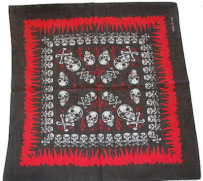 AU3.95 • Buy Bandana Bandanna Flame Skull Cross Bone Black 6 Styles