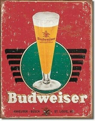 $ CDN19.42 • Buy BUDWEISER Bud Beer Logo Retro Tin Sign Metal Poster