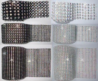 AB STITCH-ON CRYSTAL Diamante REEL Ribbon Edging Lot WEDDING CAKE BANDING Bling • 3.49£