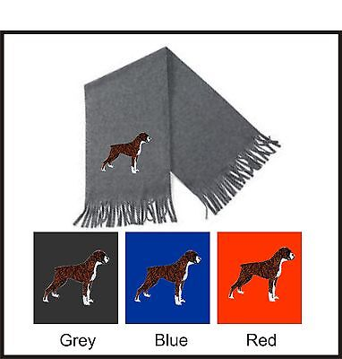 Boxer Dog Scarf Perfect Christmas Gift Embroidered By Dogmania • 14.95£