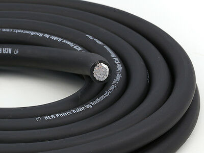 AU97.33 • Buy KnuKonceptz KCA Black TRUE AWG 1/0 Gauge Battery Power Ground Wire Cable 50'