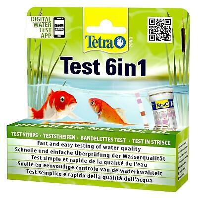 £13.49 • Buy TETRA POND 6 In 1 DIP TEST STRIPS PH KH GH NO2 NO3 CL2 KOI FISH WATER QUALITY