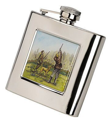 £19.99 • Buy Game Shooting Scene 6oz Gift  Hip Flask FREE ENGRAVING CLEARANCE