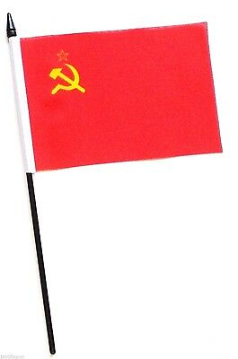 USSR Soviet Union Russia Small Hand Waving Flag  • 3.50£