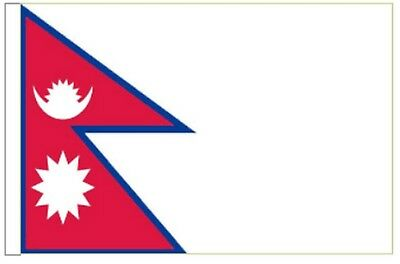 Nepal Sleeved Courtesy Flag Ideal For Boats 45cm X 30cm • 4.50£