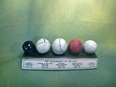 History Of The Golf Ball Display Desk Plaque, Very Highly Detailed, Must Have • 21.94£