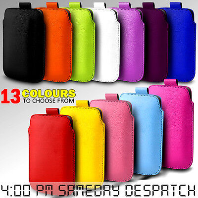Leather Pull Tab Skin Case Cover Pouch  For Various Mobilephones • 2.49£