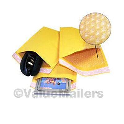 $23.95 • Buy 200 #000 4x8 Kraft Bubble Padded Envelopes 4.5 X 8 ~ X-Wide Mailers Bags