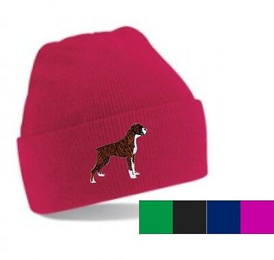 Boxer Dog Beanie Hat Perfect Christmas Gift Embroidered By Dogmania • 9.95£
