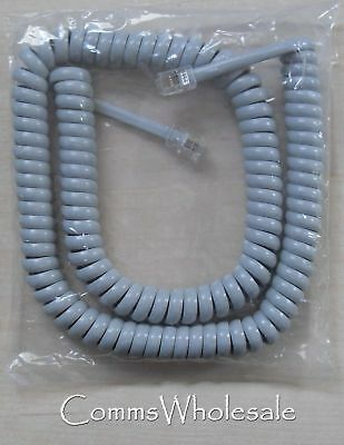 £2.50 • Buy Replacement Telephone Handset Curly Cord Grey - 62 Cm Length In Coiled State