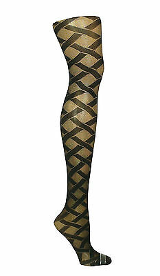 £3.99 • Buy Womens Ladies Black Patterned Tights  Plus Size Xl  R19