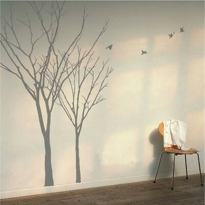 Winter Autumn Tree Birds Lounge Bedroom Vinyl Wall Art Stickers, Wall Decals • 6.49£