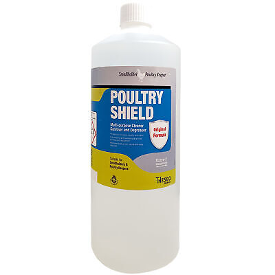 £16.99 • Buy Poultry Shield By Biolink 1 Litre Concentrate Makes 10 Lt Red Mite Chickens Hens