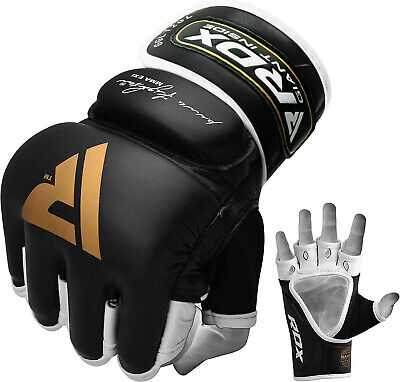 $ CDN65.99 • Buy  RDX Leather Gel Tech MMA Grappling Gloves Fight Boxing Punch Bag C