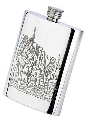 £22.99 • Buy Game Shooting Sheffield Pewter 6oz Hip Flask Gift Presentation CLEARANCE