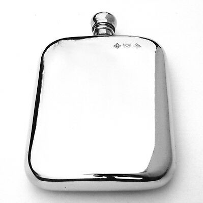 £44.99 • Buy Sheffield Pewter 6oz Rounded Kidney Traditional Hip Flask Gift  FREE ENGRAVING