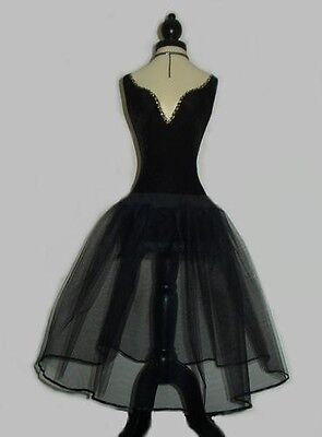 BLACK NET PETTICOAT - UK Custom Made - PROM 50s VINTAGE BALL SKIRT ROCKABILLY • 14.45£