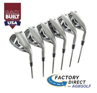 AU217.52 • Buy SENIORS WIDE SOLE IRONS SET 5, 6, 7, 8 & 9 + PW SENIOR FLEX 4.5t GRAPHITE SHAFTS
