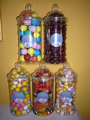 £3.19 • Buy Victorian Gift Sweet Jars Filled With Traditional Retro Sweets 60 Varities