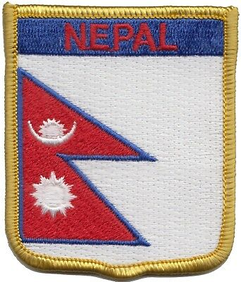 Nepal Flag Shield Embroidered Patch - LAST FEW • 2.99£