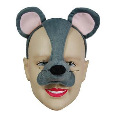 Mouse Mask On Headband & Sound,    MASQUERADE EYE MASK, ANIMAL, FANCY DRESS • 6.99£