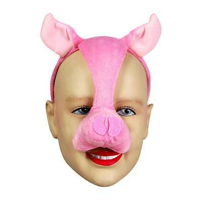 Pig Mask On Headband & Sound,    MASQUERADE EYE MASK, ANIMAL, FANCY DRESS • 6.99£