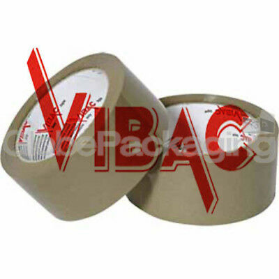 £6.95 • Buy 2 Rolls Of VIBAC X-Strong Brown Packing Packaging Tape