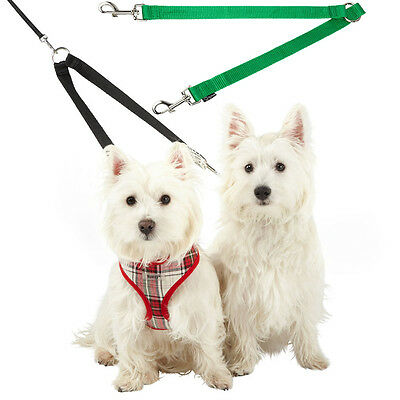 £3.49 • Buy Bunty Double Dog Pet Lead Leash Splitter Coupler With Clip For Collar Harness