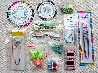 £2.79 • Buy Knitting Accessories - Row Counters, Locking Stitch Markers, Point Protectors.