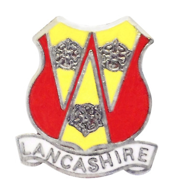 Lancashire County Council 3 Roses Crest Pin Badge • 4.50£