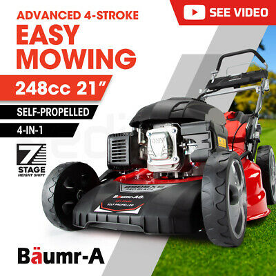AU666 • Buy 【EXTRA15%OFF】Baumr-AG Lawn Mower 21  248cc Electric Start Petrol